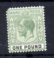 Bahamas KGV 1921-34 £1 green mint VLHM SG125 (pulled Perf) WS19113