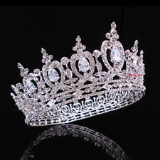 Luxury Full Crystal Drip CZ Adult Wedding Bridal Party Pageant Prom Round Crown