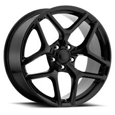 20x10 20x11 Staggered Gloss Black Z28 Style Fits 2010-Up Camaro Wheels Rims Set