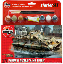 "Brand New Airfix 1:76th Scale PZKW VI AUSF.B ""King Tiger"" Starter Set."