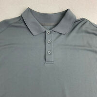 Woolrich Polo Shirt Mens XL Gray Short Sleeve Casual