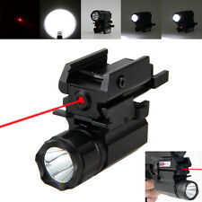 Tactical 2000LM R5 LED Rifle/Gun Flashlight Rail Mount Light+20mm Red Laser Dot