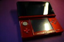 Nintendo 3ds Console Flame Red - Free case and game - UK Charger - FAST SHIP