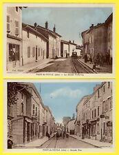 LOT 2 cpa PONT de VEYLE (Ain) LIGNE TRAMWAY Trévoux St-Triviers Compagnie E.S.E.
