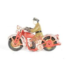 Vintage Cast Iron Police Man on Motorcycle