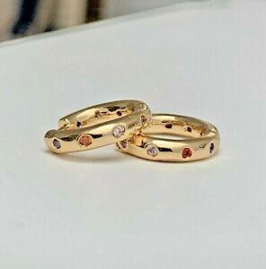 gold huggie hoop earrings 18k Gold Filled high quality small gold hoop earrings