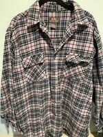 Moose Creek - Men's Long Sleeve Button Up Heavy Flannel Shirt - Flap Pockets XL