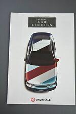 Car Brochure, Vauxhall Paint Colours 1993, Corsa Astra Calibra Senator Cavalier