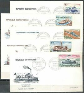 Central African Republik, 1968, River Ships, FDC