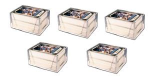 (5 Boxes) Pro-Mold 2 Piece Plastic Card Storage Box (100 Count Size) Slider Box