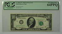 1969B $10 Bill *STAR* Federal Reserve Note FRN PCGS 64PPQ Fr. 2020-E (D)