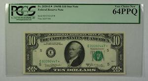 1969B $10 Bill *STAR* Federal Reserve Note FRN PCGS 64PPQ Fr. 2020-E (D)