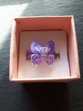 New childs purple butterfly cute ring UK size G.5! Childrens kids jewellery!