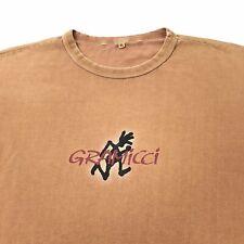 Gramicci Big Logo Shirt Orange Running Man T-Shirt Men's Size XL Faded Rare Vtg