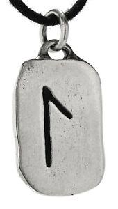 Rune Anhänger Laguz 925 Silber Buchstabe L Diverse Ketten Nr 301