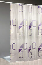 Moderne Duschvorhänge aus Kunstoff mit geometrischem Muster