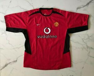 Vintage Manchester United Vodafone Men's Jersey Shirt Home Size XL