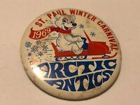 Vintage 1969 St. Paul Winter Carnival Pinback Button Arctic Antics