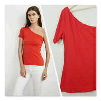 [ Velvet By Graham & Spencer ] Womens Red Abbeline Top | Size L or AU 14 / US 10