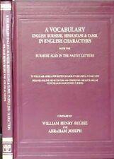 USED (LN) A Vocabulary: English, Burmese, Hindustani and Tamil in English Charac