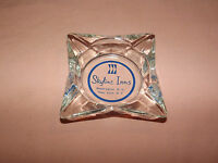 VINTAGE SKYLINE INNS WASHINGTON  D. C. NEW YORK GLASS CIGARETTE ASHTRAY
