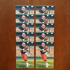 Ozzie Newsome Browns Lot of 10 unsigned Goal Line Art Cards