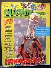 GUERIN SPORTIVO=N°51/52 1989=MILAN MONDIALE=MONDIALI MARADONA=POSTER=CALCIOMONDO