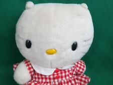 BIG 1998 SAN RIO SANRIO RED CHECKERED GINGHAM SCHOOLGIRL DRESS HELLO KITTY PLUSH