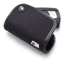 BMW M3 M5 M6 Genuine Leather Key Case FOB New OEM M Logo Holder w Logo Keychain
