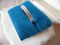 Art Deco Vintage Jewellery White Gold Band Ring with Sapphires Antique Jewelry
