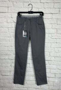 NEW Nike Womens Gray Trouser Golf Pants Size 2
