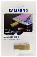 SAMSUNG 32 GB EVO micro SDHC Metal OTG USB card reader drive 32G S6 edge gold