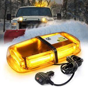Amber 60W COB LED Rooftop Strobe Lights Emergency Hazard Flashing Beacon 6000K