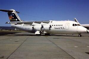 Original 35mm Colour Slide of Ansett WA BAe 146-200 VH-JJQ