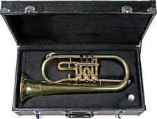 B Flügelhorn mit Zylinder - Drehventilen, Koffer und Mundstück