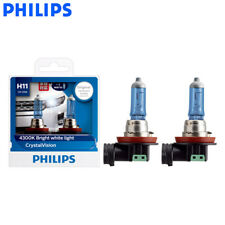 Philips H11 12362CVSM 12V 55W Crystal Vision Car Lamps 4300K White Light Bulb 2X