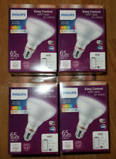 4 Philips LED Full Color Wi-Fi WIZ Connected Smart Dimmable Light bulb 65W BR30