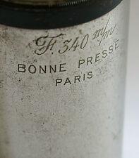 OBJECTIF BONNE PRESSE 340mm, objectif ancien,cinéma, projection,BONNE PRESSE 340