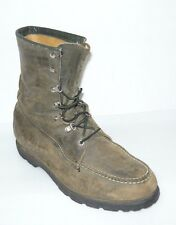 Ted Williams Vintage Green Leather Boots Size 11D