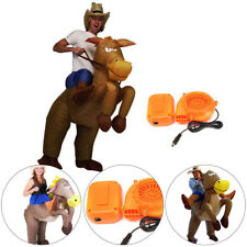 Adult Inflatable Horse & Jockey Costume Fancy Dress Outfit Races Hen Stag Night