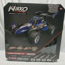 Toy State Nikko Turbo Panther X2 Scale 1:10 Radio Control Race Vehicle Car Blue
