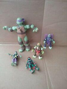 Teenage Mutant Ninja Turtles TMNT Figure Figurine Toy Mix LOT of 5 FREE SHIPPING