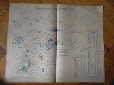 Historische Karte Herstellung elektrische Maschinen usw Metall + Maschinen 1921
