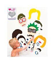 Foam Bath Stickers for Kids –37 Pieces Silly Face Foam Bathtub Stickers