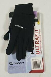 HEAD Ultra Fit Touchscreen Running Gloves Sensatec Warm - Black - XS- FREE SHIP