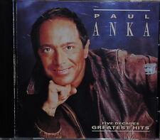 Paul Anka Five Decades Greatest Hits 1991 Curb CD