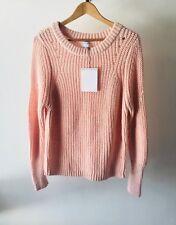 Witchery Sz L Fashion Rib Knit Jumper in Light Pink - 14