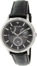 Emporio Armani Men's Meccanico AR4664 Black Dial Leather Automatic Watch NWT