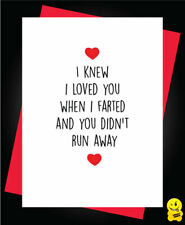 Funny Rude Birthday Anniversary Card Husband Wife - Farted A51