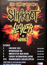 Slayer Tourposter Unholy Alliance - Slipknot
